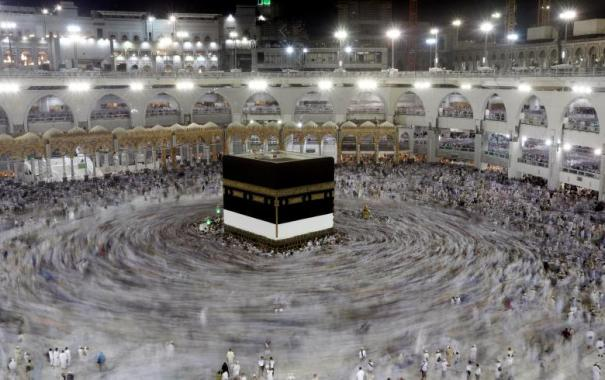 Muslim pilgrims circle the Kaaba at the Grand mosque ahead of the annual Haj pilgrimage in Mecca Saudi Arabia